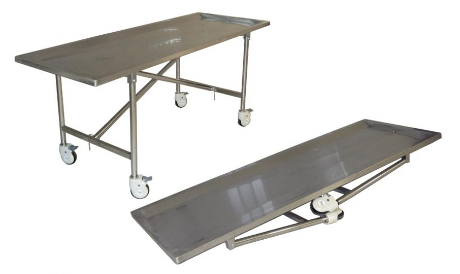 Model tbl stainless steel folding embalming table