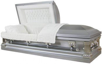 8923ss - Stainless Steel Casket Natural Brush Silver Finish